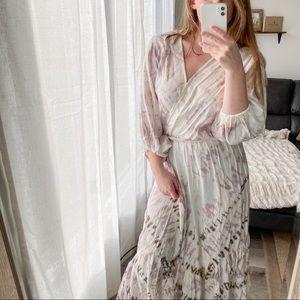 NWT Young Fabulous & Broke White Tie Dye Dress